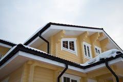 Fasadowy drewniany dom Zdjęcia Stock