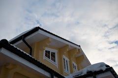 Fasadowy drewniany dom Obraz Royalty Free