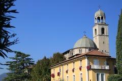 Fasadowy i dzwonkowy wierza duomo Di salà ² Brescia Italy obrazy stock