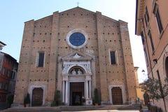 Fasadowy i dzwonkowy wierza duomo Di salà ² Brescia Italy obraz stock