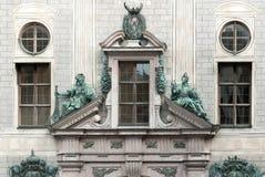 Fasadowy i statuaryczny Monachium siedziba obrazy royalty free