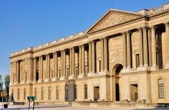 fasadowy louvre Paris zdjęcia royalty free