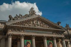 Fasadowy szczegół Brukselski giełda papierów wartościowych budynek Zdjęcia Stock