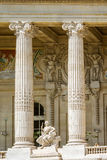 Fasadowy szczegół Uroczysty Palais, Paryż Zdjęcie Stock