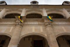 Fasadowy łucznictwo Dampierre-sur-Boutonne kasztel Obraz Stock