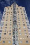 fasadowych wysokich domów nowy wzrost Zdjęcia Royalty Free