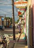 Fasadrenoveringar i trinidad Royaltyfri Fotografi
