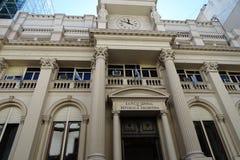 Fasadsikt för nationell bank i Buenos Aires, Argentina, December 30, 2017 Arkivbilder