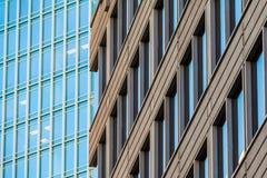 Fasady dwa biurowego drapacza chmur, Atlanta, usa fotografia royalty free
