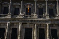 Fasady typowa architektura kapitał Hiszpania, Madryt Obraz Royalty Free