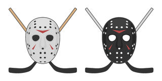 Fasahockeymaskering för allhelgonaafton royaltyfri illustrationer