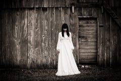 Fasaplats av en läskig kvinna Royaltyfria Bilder
