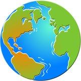 fasat jordklot Arkivbilder