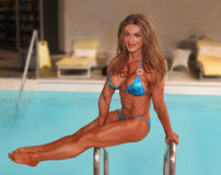 Fascínio pela piscina fotografia de stock royalty free