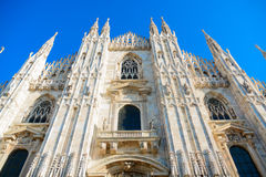 Fascade Of The Milan Cathedral (Duomo Di Milano) Stock Images