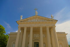 Fascade of Vilnius cathedral - one of the distinctive features o Royalty Free Stock Photography