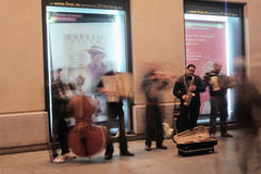 Fasce dei musicisti nelle vie Fotografia Stock