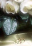 Fasce di cerimonia nuziale Fotografia Stock