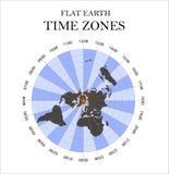 Fasce orarie piane della terra Illustrazione di vettore Fotografia Stock Libera da Diritti
