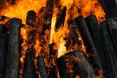 Fasci brucianti Fotografia Stock Libera da Diritti