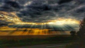Fasci di Sun Immagine Stock