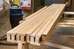 Fasci incollati di legno Immagini Stock