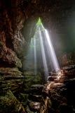 Fasci luminosi Fotografie Stock