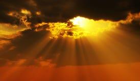 Fasci solari Immagine Stock
