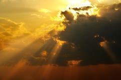 Fasci solari Fotografia Stock Libera da Diritti