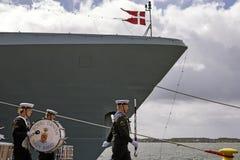Fascia di blu marino danese reale Fotografie Stock