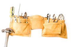 Fascia di cuoio dello strumento della pelle scamosciata Fotografia Stock Libera da Diritti