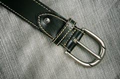 Fascia di cuoio nera classica fotografia stock