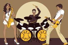 Fascia di jazz Immagine Stock