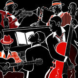 Fascia di jazz Fotografie Stock
