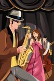 Fascia di musica di jazz Fotografie Stock
