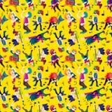 Fascia di musica rock del fumetto Immagine Stock
