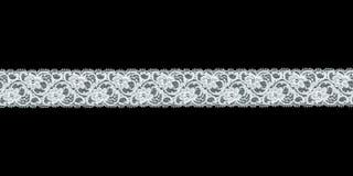Fascia floreale bianca del merletto Immagini Stock Libere da Diritti