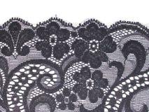 Fascia floreale nera del merletto Immagini Stock Libere da Diritti