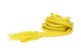 Fascia gialla di capoeira Fotografia Stock Libera da Diritti