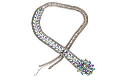 Fascia jeweled argento immagini stock