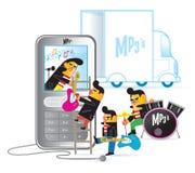 Fascia mobile illustrazione di stock