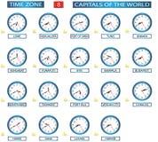 Fascia oraria - 8 Immagine Stock
