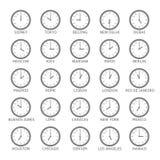 Fascia oraria del mondo illustrazione di stock