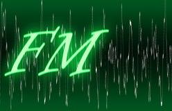 Fascia radiofonica di Fm Immagini Stock Libere da Diritti