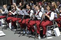 Fascia tedesca tradizionale di musica Immagini Stock Libere da Diritti