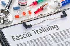 Fascia training written on a clipboard Royalty Free Stock Images