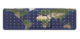 Fasciatura con la mappa della terra illustrazione vettoriale