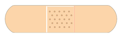 Fasciatura semplice Immagini Stock