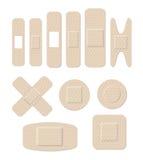 Fasciature di plastica mediche di forma differente Illustrazione Vettoriale