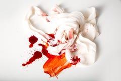 Fasciature e sangue Fotografie Stock